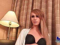 Pretty Tranny Kimberly Fox Takes Off Her Panties 1
