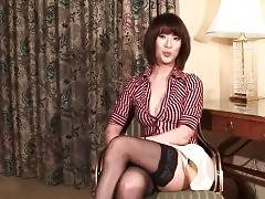 Experienced asian tranny is interviewed.