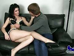 Cute TS Jenny Conder Tempts Her Friend Rick 1