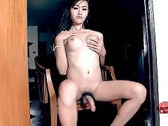 Adorable Ladyboy Plays With Her Dick 1